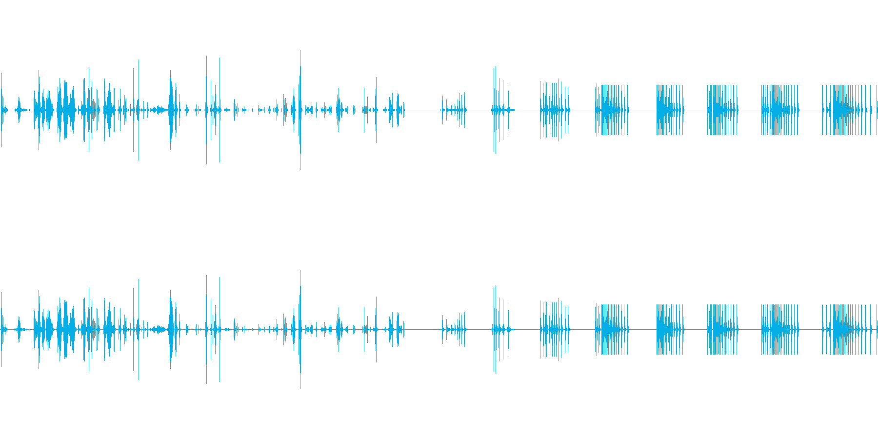 ブート:サウンドのセットアップとク...の再生済みの波形