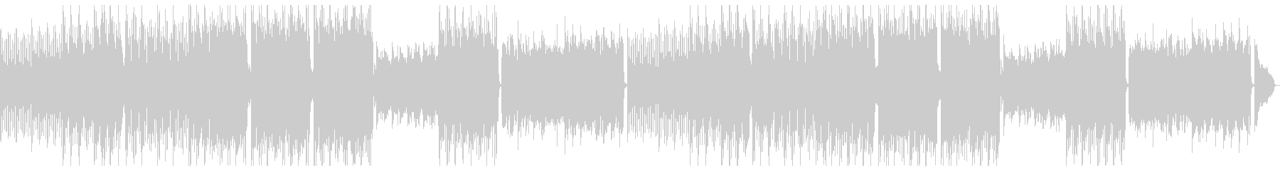 カジュアル穏やかエレピポップ:フルx2の未再生の波形