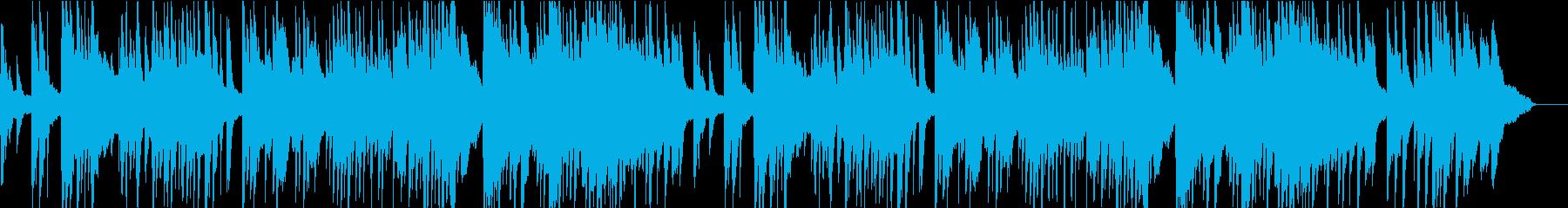 優しく落ち着く感じのピアノ曲の再生済みの波形