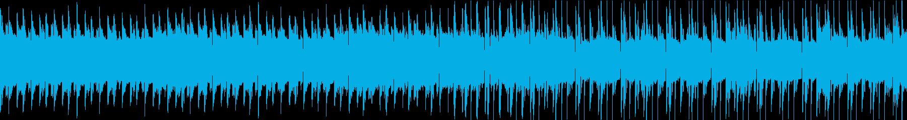 シューティングゲームのタイトル画面の再生済みの波形