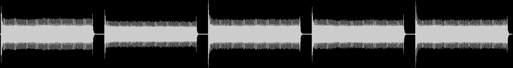 トーンアタリスパッタビープ音の未再生の波形