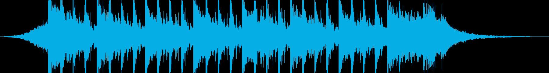 企業VP向け、爽やかポップ4つ打ち6-3の再生済みの波形