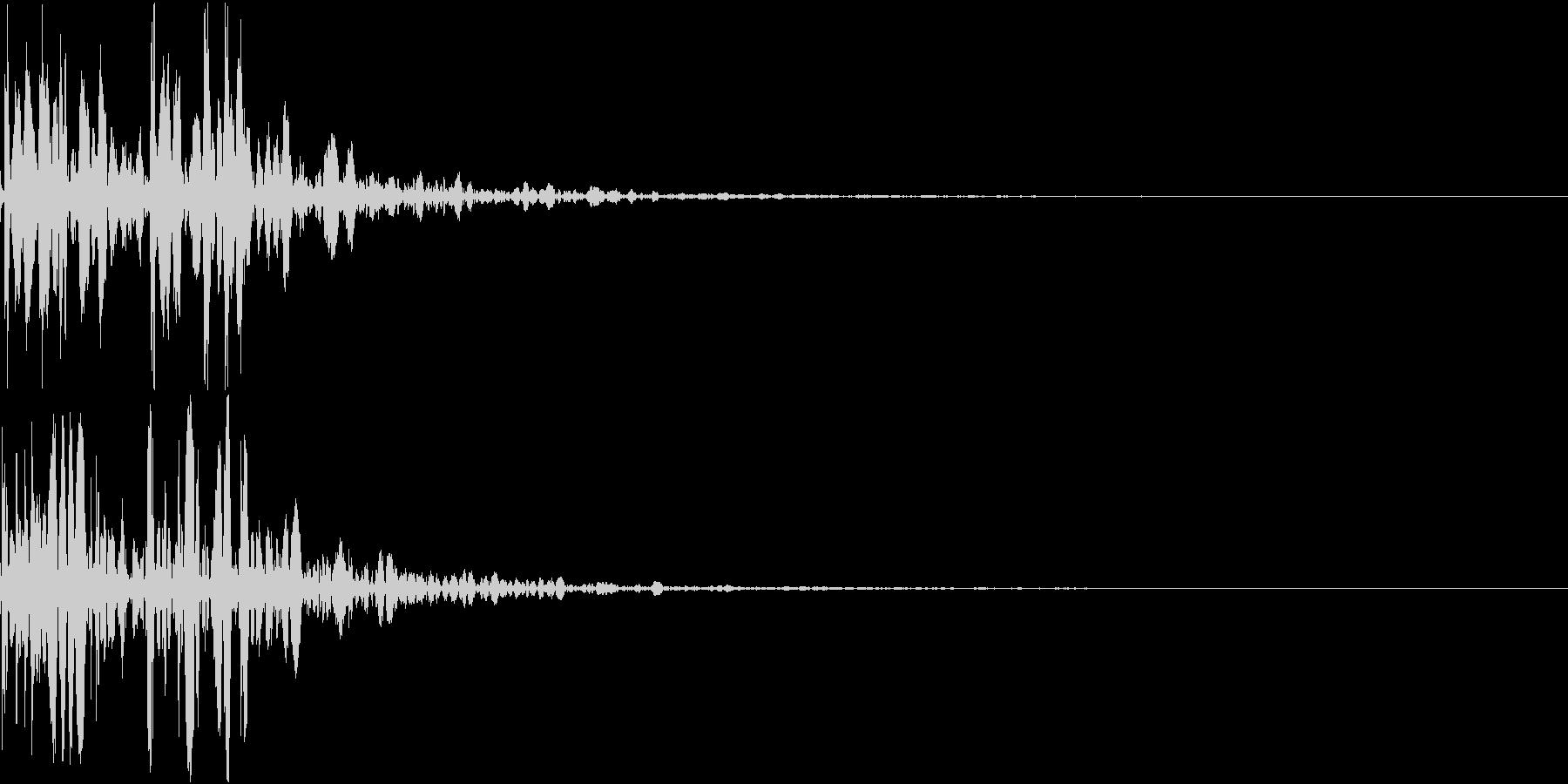 YAWARA 柔道の受け身の音 2の未再生の波形
