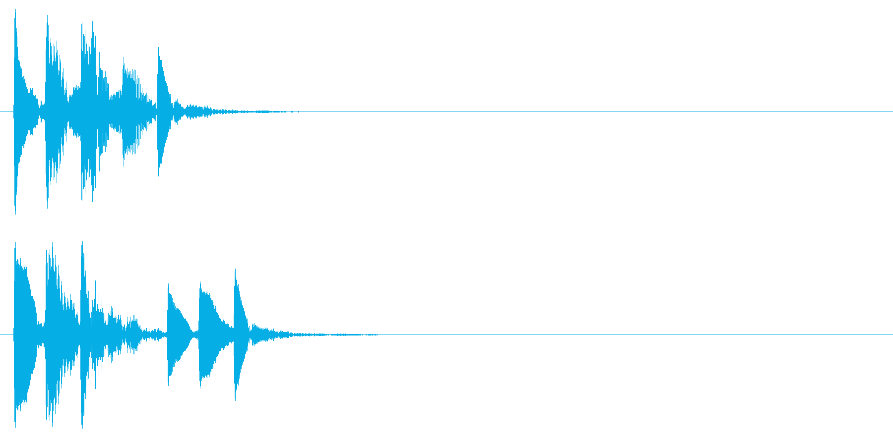 ゲーム内カーソル移動やアイテム取得時の音の再生済みの波形