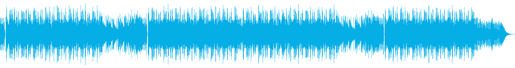 Urban / fashionable dubstep ending's reproduced waveform