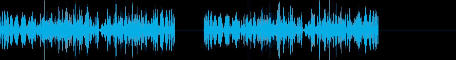 DJプレイ スクラッチ・ノイズ 309の再生済みの波形