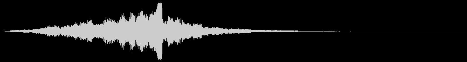 CINEMATICな音で始まる映像_02の未再生の波形