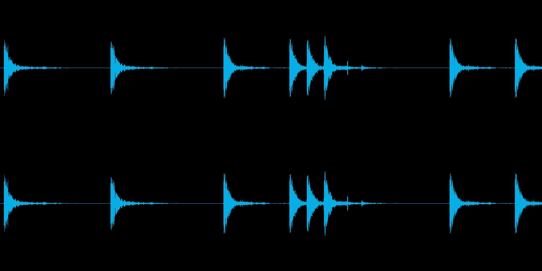 銃の音 (1)の再生済みの波形