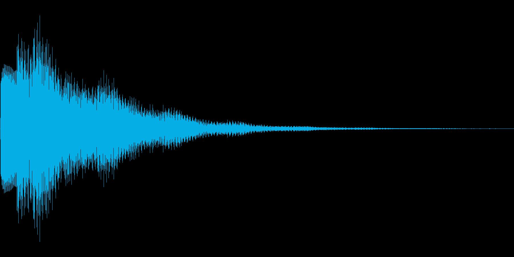 華やかなゲームの決定音の再生済みの波形