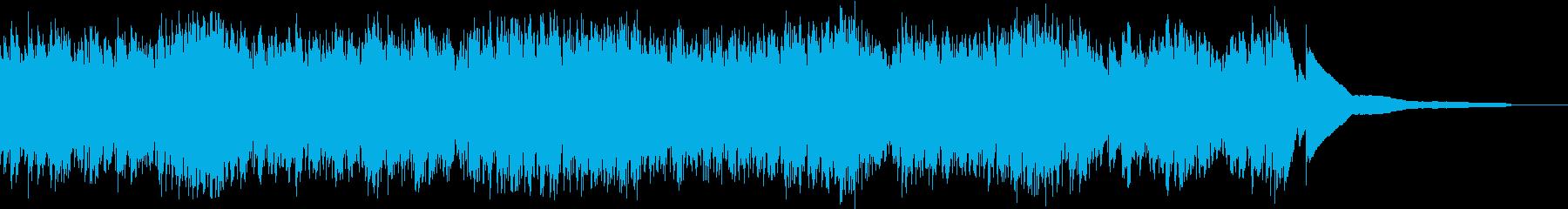 生演奏:細かい音の動きで流れるピアノの再生済みの波形