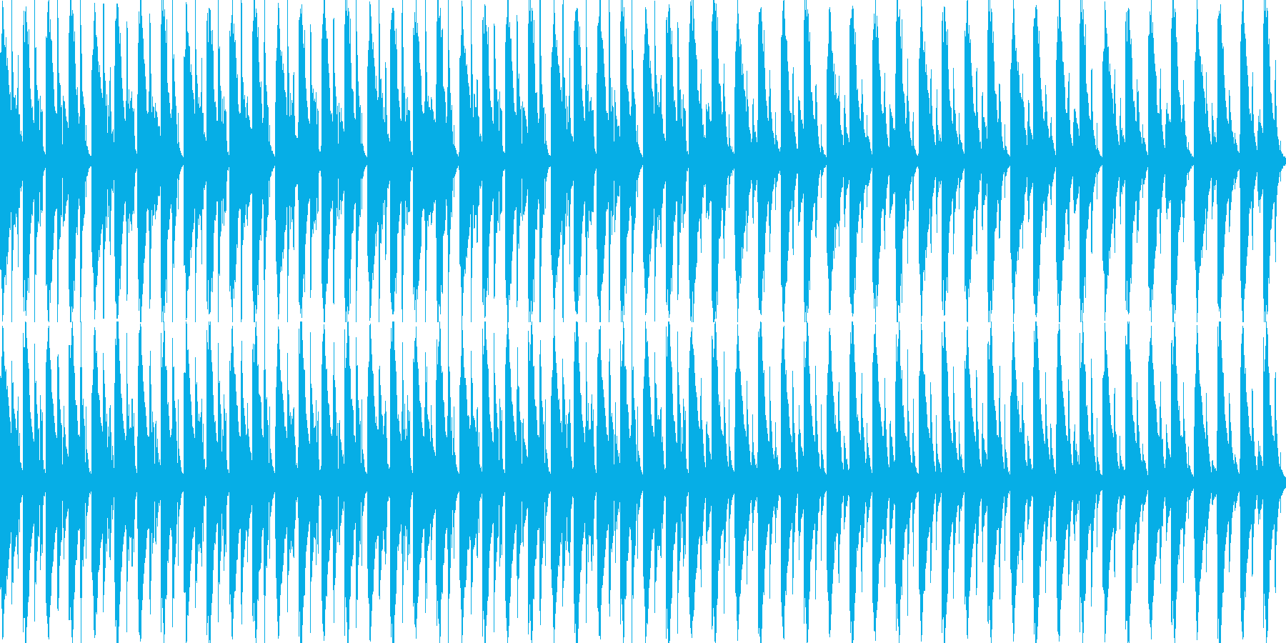 進歩的な技術/ハウス。反復的で、や...の再生済みの波形
