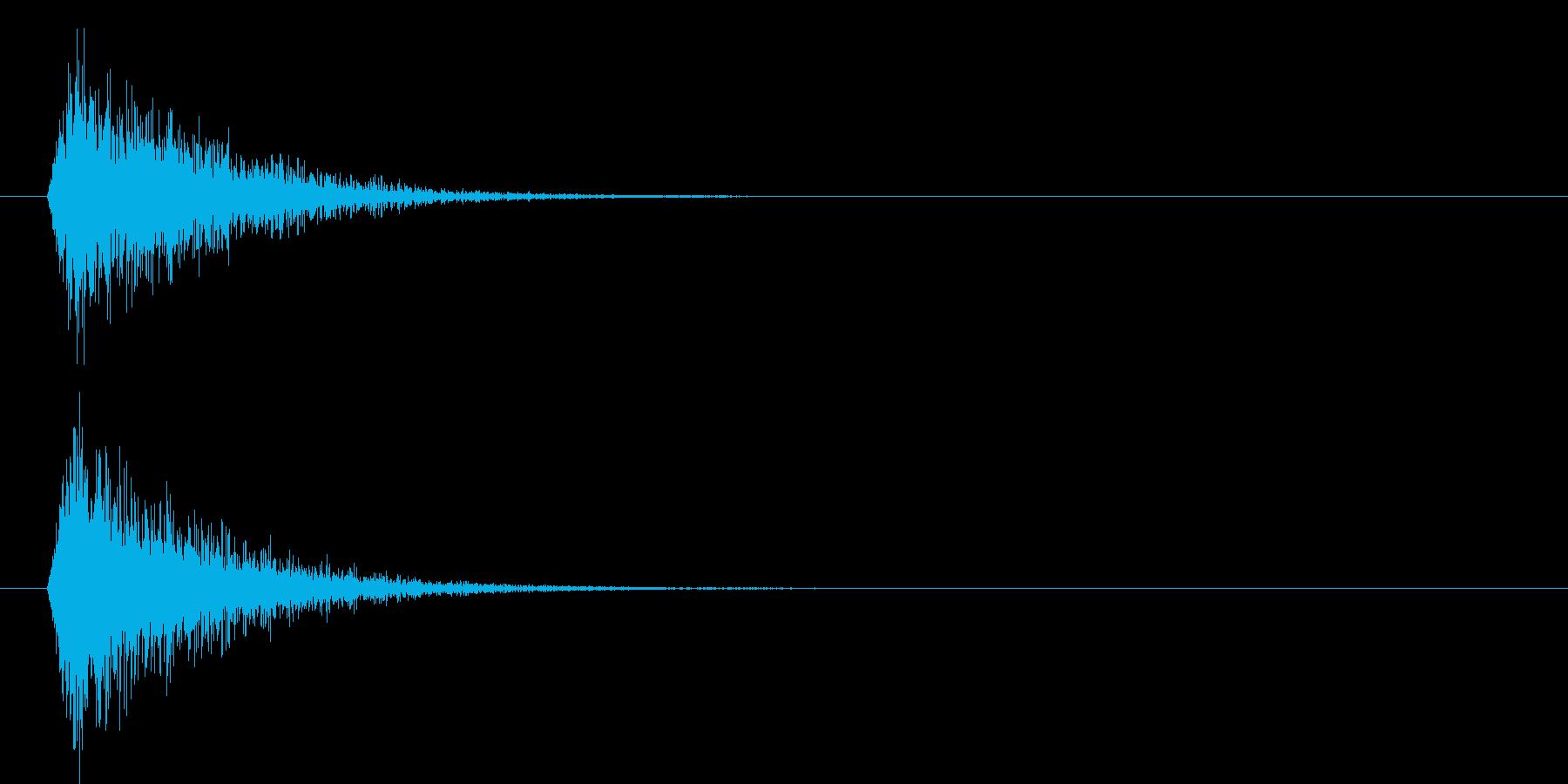 ダァン!(デカイ剣を振り下ろす音)の再生済みの波形