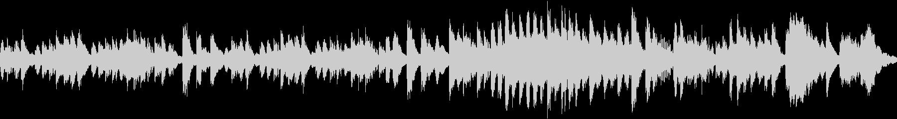 ほのぼのとしたマリンバのソロの未再生の波形