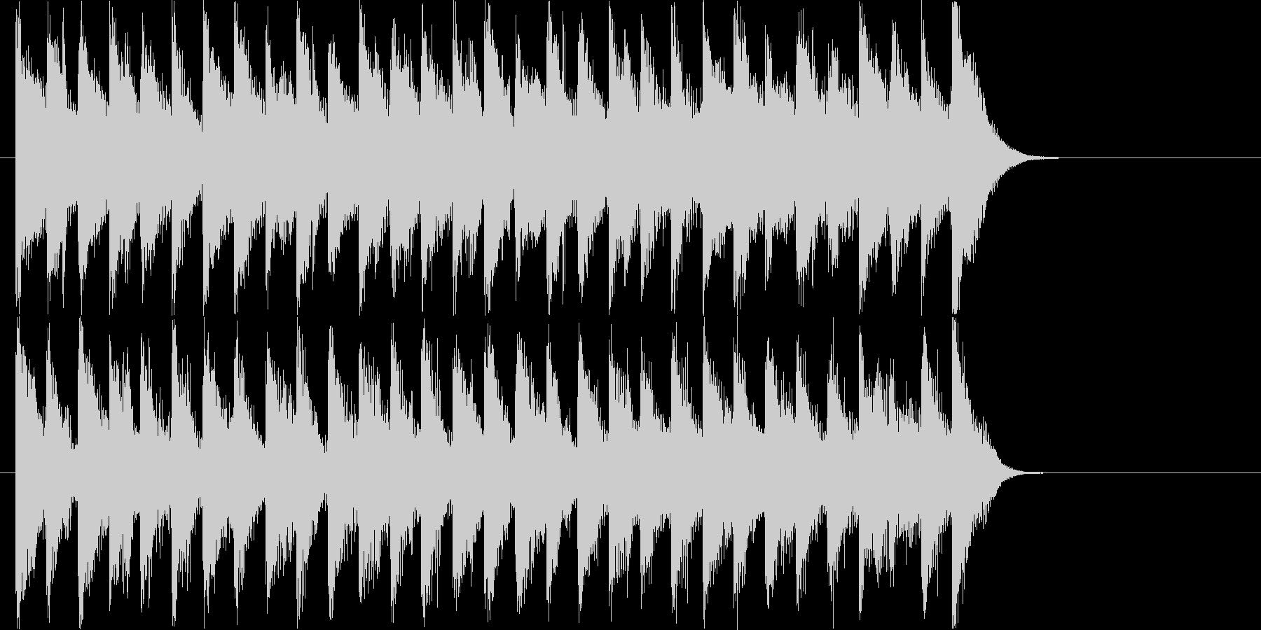 テンポの良い楽しく明るいロゴ・ジングルの未再生の波形