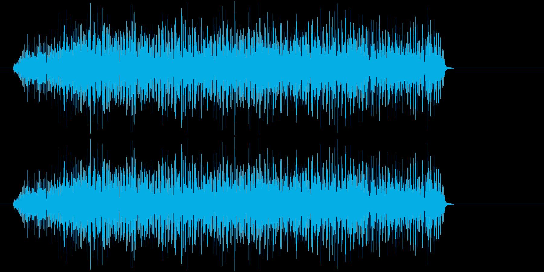 「あああああ」デスボイスの再生済みの波形
