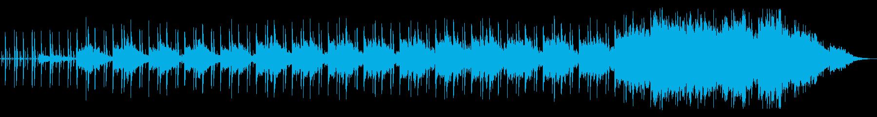すこしずつ音が重なっていきますの再生済みの波形