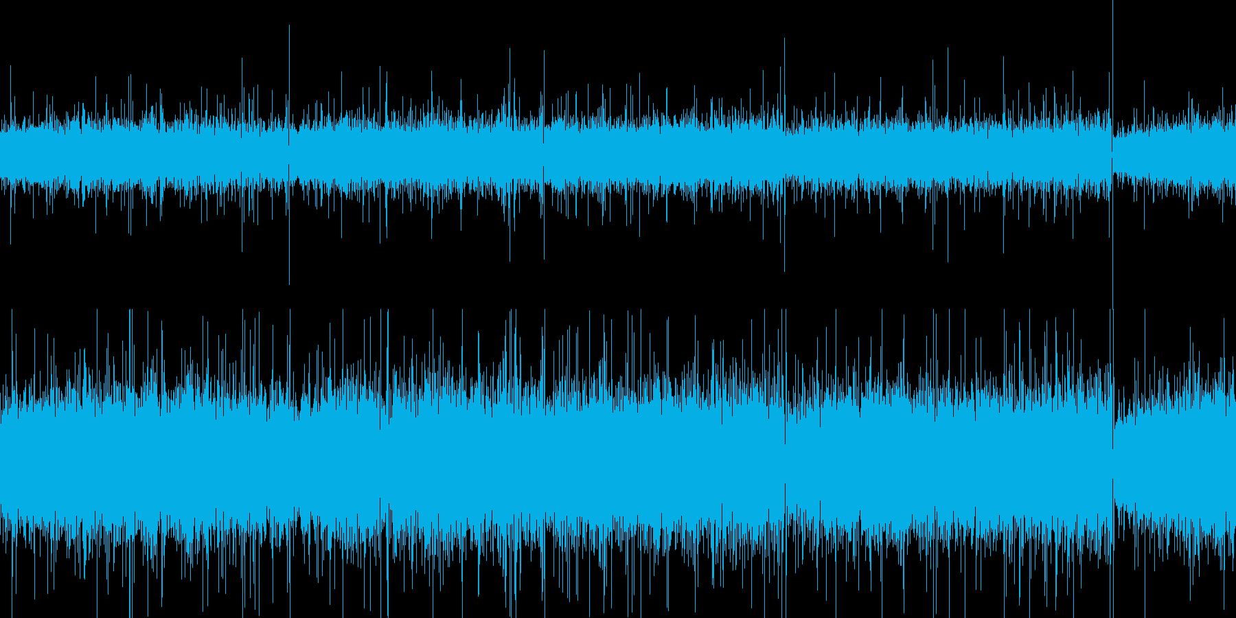 大雨の音の再生済みの波形
