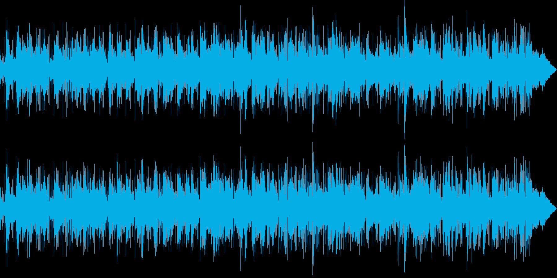 優しい感じのBGMの再生済みの波形