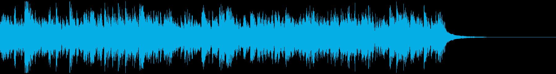 切迫した場面にあうショートBGMの再生済みの波形