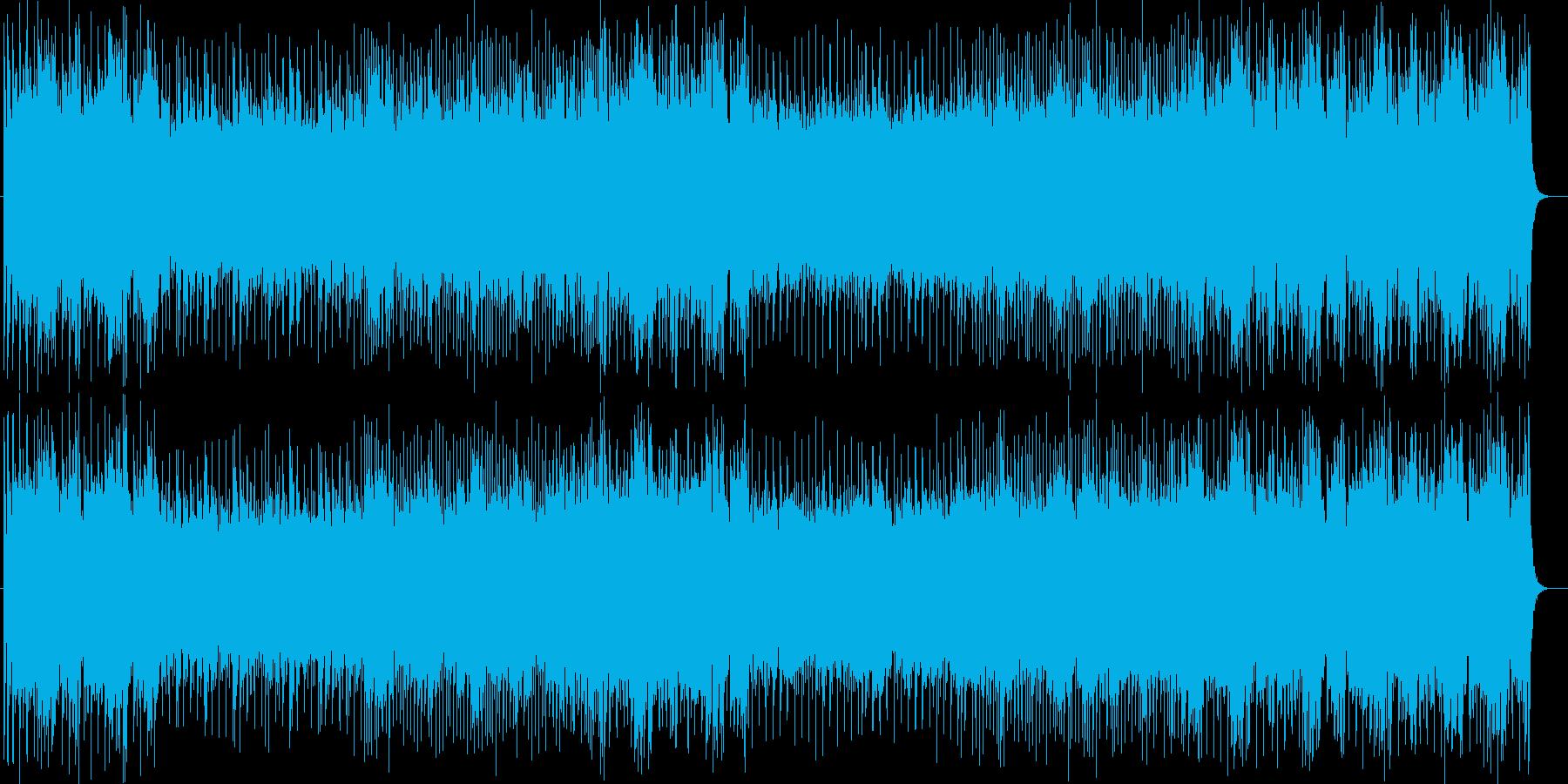 メロディやリズムがダイナミックに響く楽曲の再生済みの波形