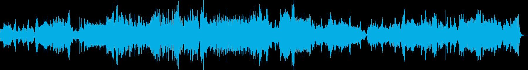 幻想的なストリングスとピアノのための曲の再生済みの波形