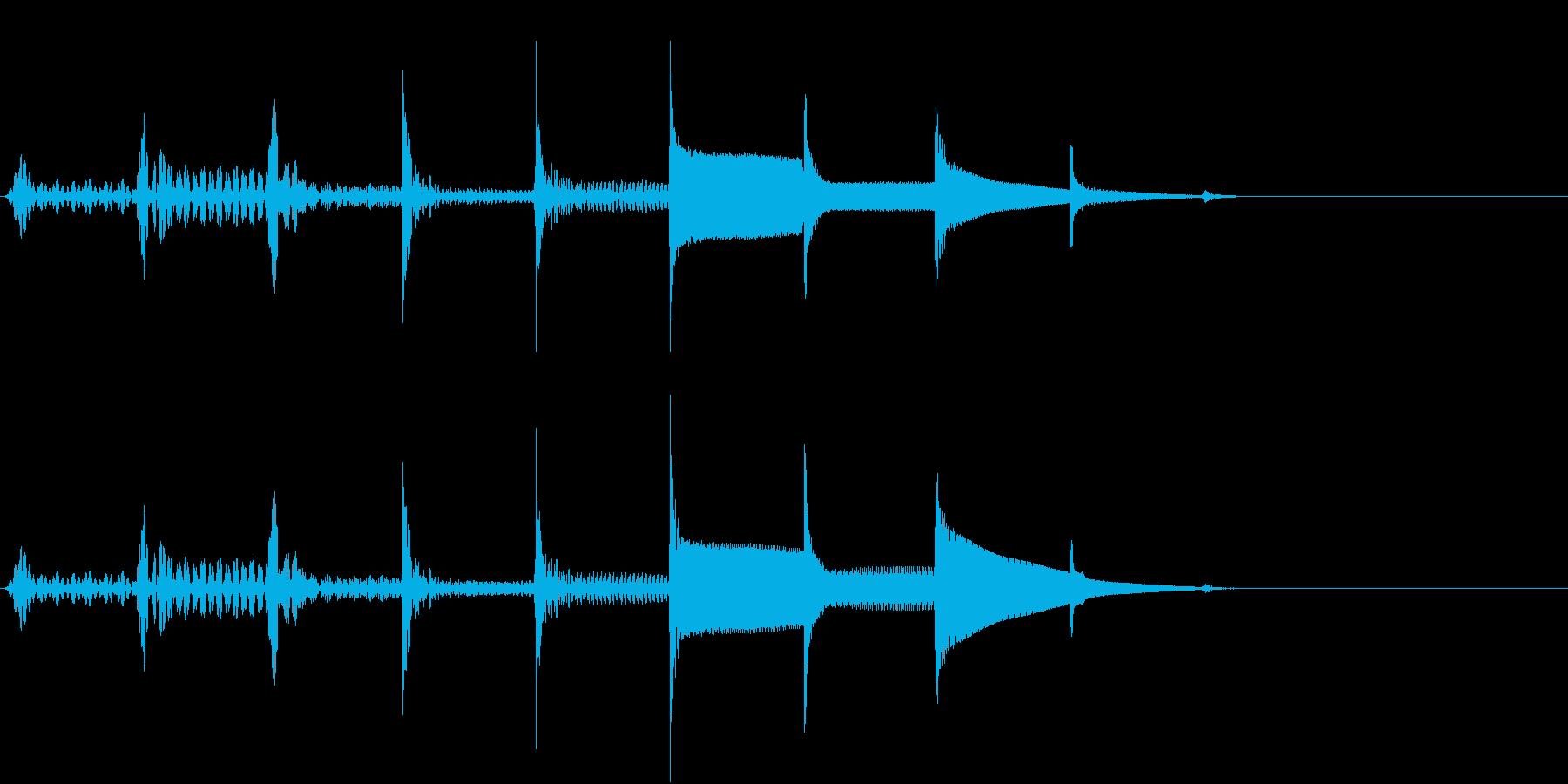 考える音の再生済みの波形