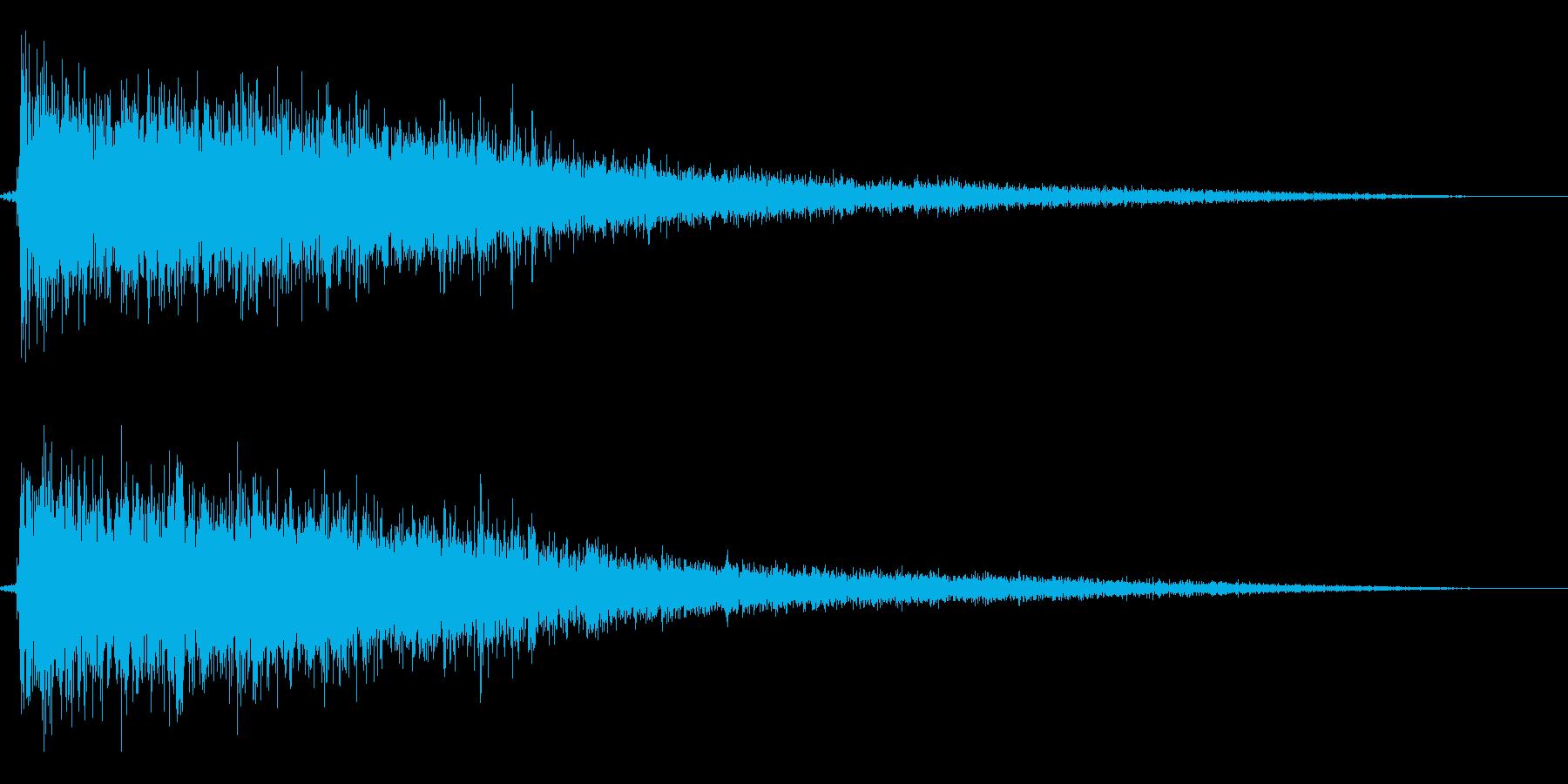 ドシーン(ロボットなどが地面に着地する)の再生済みの波形