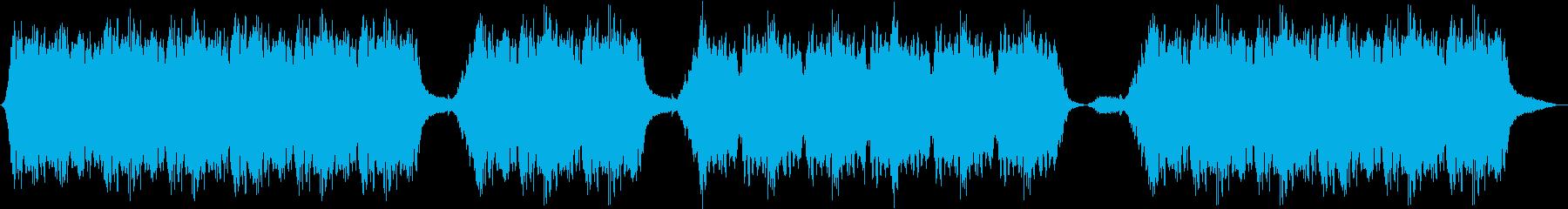 就寝用に制作されたハープ音楽の再生済みの波形