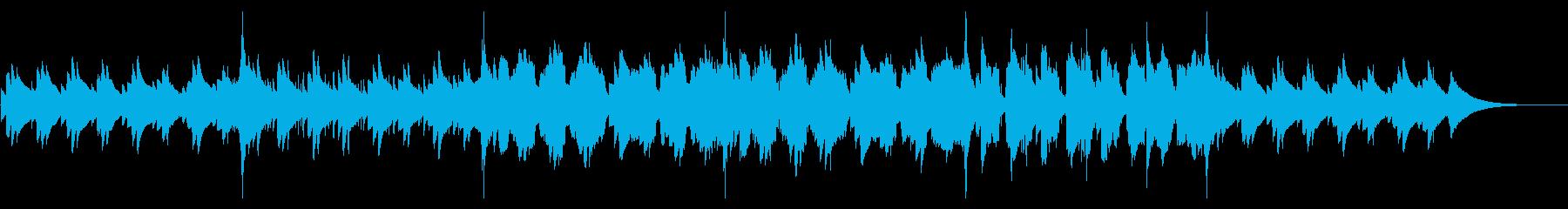 ダークな雰囲気のハープとフルートの音色の再生済みの波形