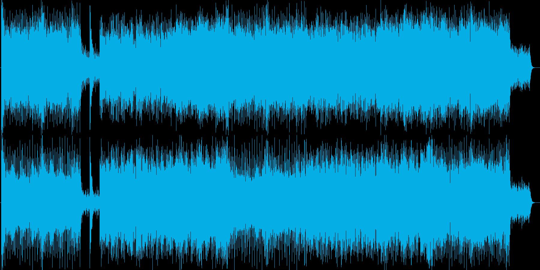 ハラハラ感シンセ・ギターなどのサウンドの再生済みの波形