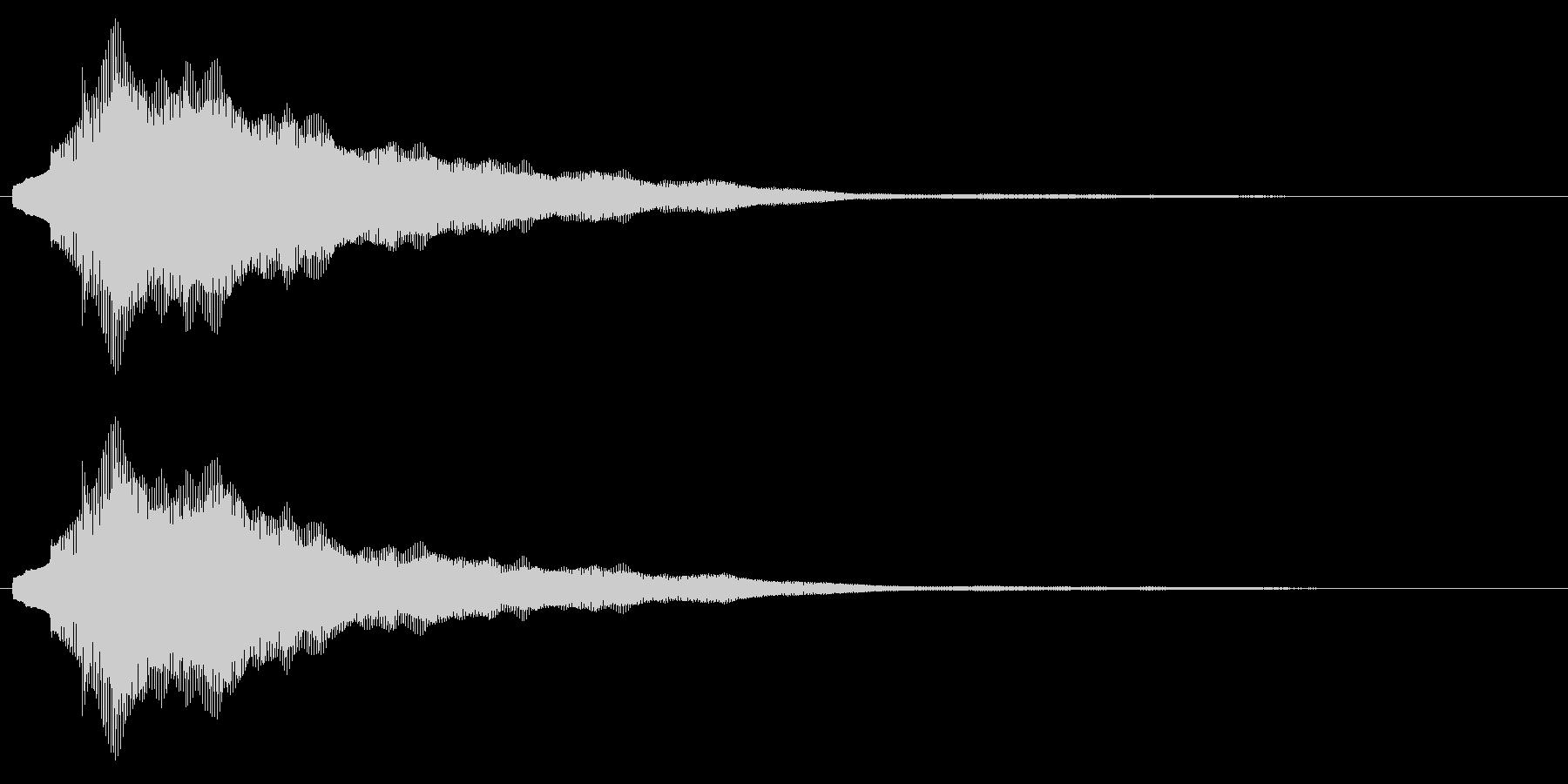 【アクセント】綺麗な決定音(長)の未再生の波形