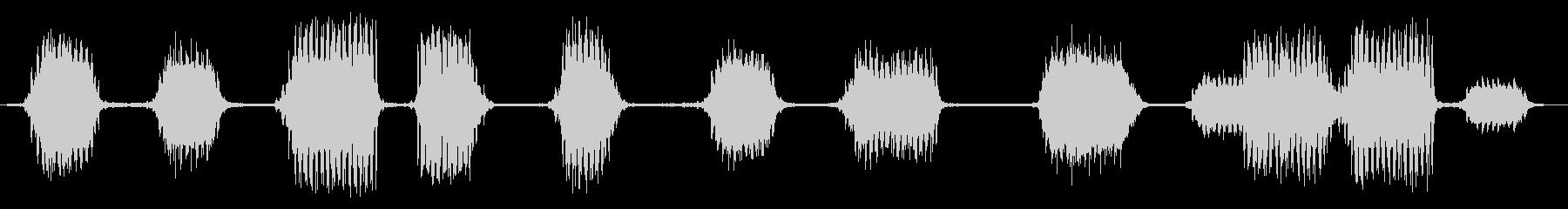 【環境音】JR高架下の未再生の波形