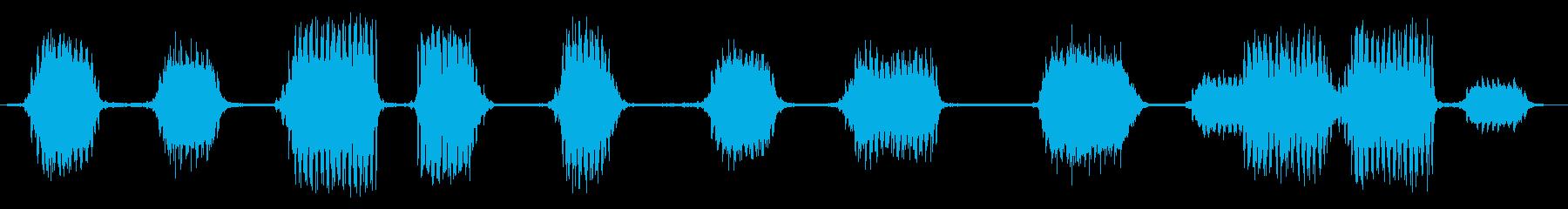 【環境音】JR高架下の再生済みの波形