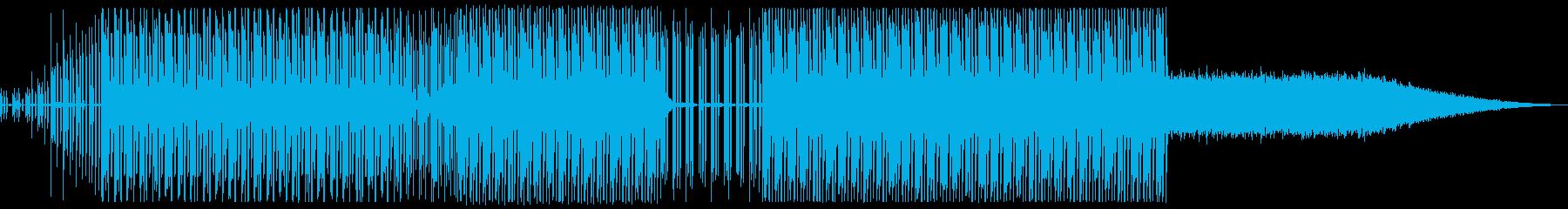 物流の流れをイメージした軽快なテクノの再生済みの波形