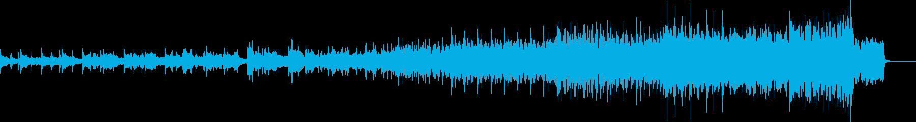 ヴァイオリンと琴と三味線と和太鼓の再生済みの波形