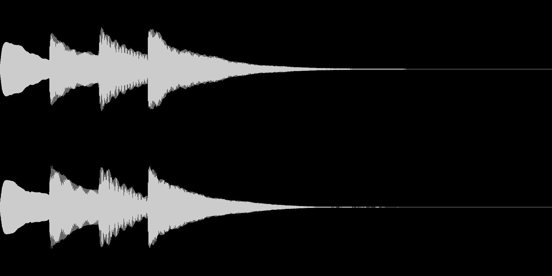 お知らせ・アナウンス音B上昇(普通)04の未再生の波形