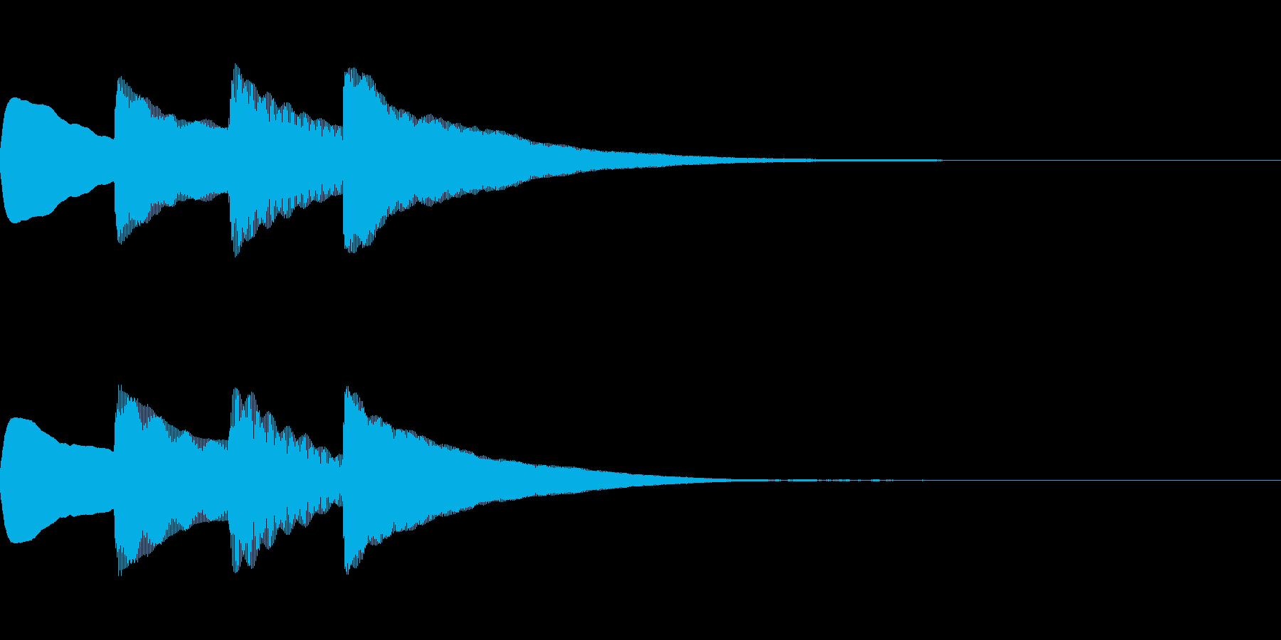 お知らせ・アナウンス音B上昇(普通)04の再生済みの波形