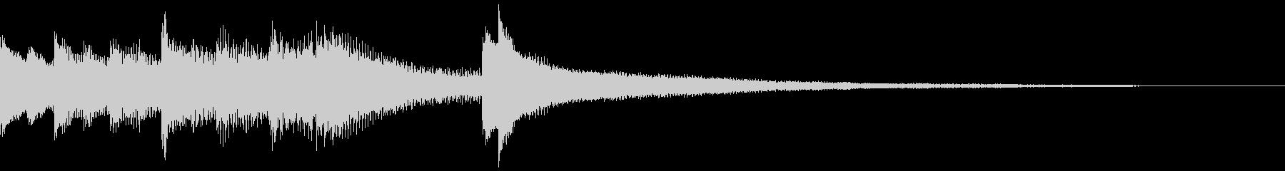 しっとり大人な雰囲気のピアノジングルB3の未再生の波形