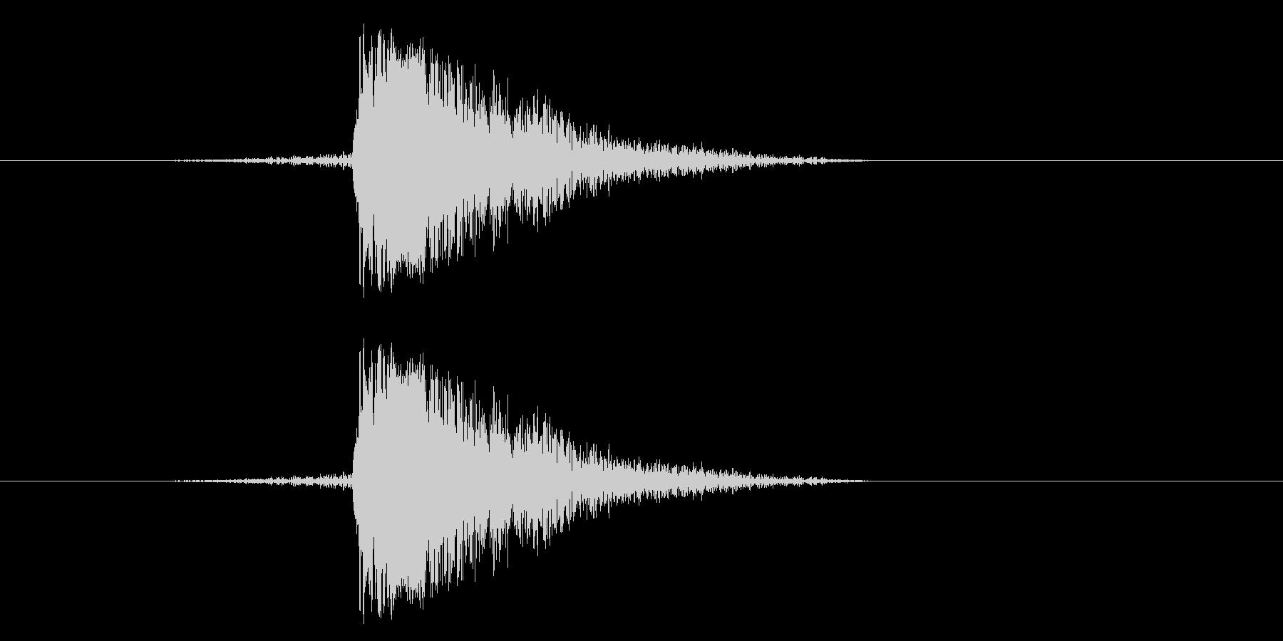 ジャン!リバースオケヒその2_音程低めの未再生の波形