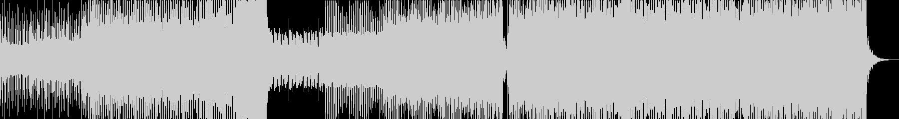 ノイズ音が印象的のエレクトリックサウンドの未再生の波形