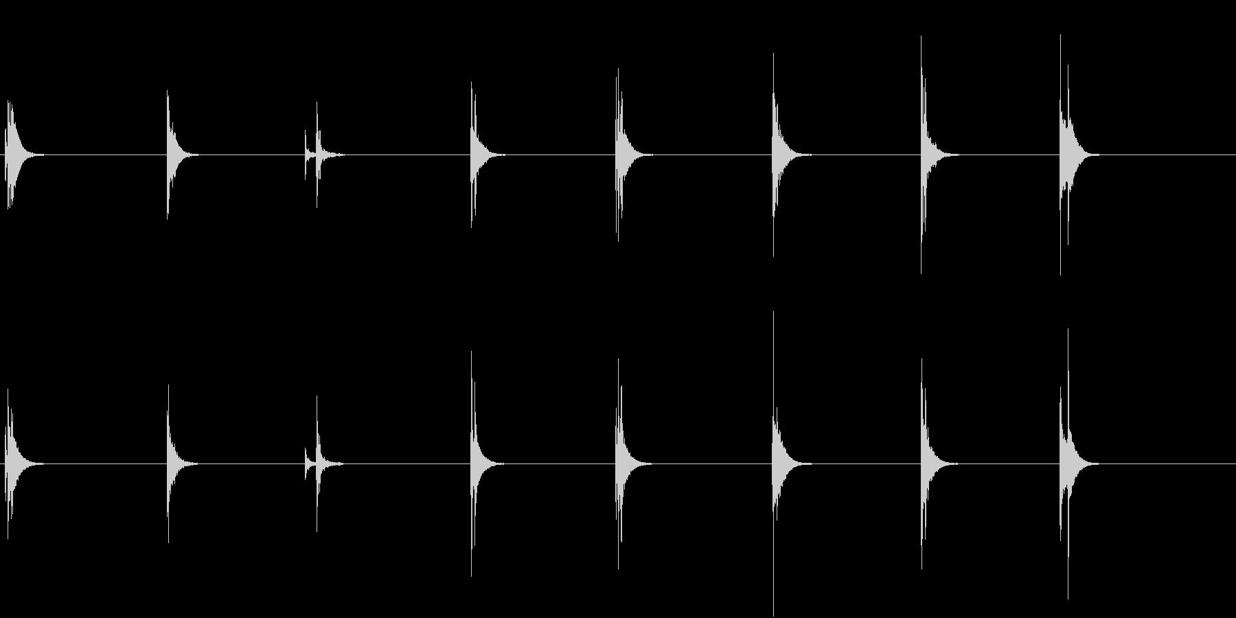 【生録音】お箸の音 47 ガツガツ食べるの未再生の波形