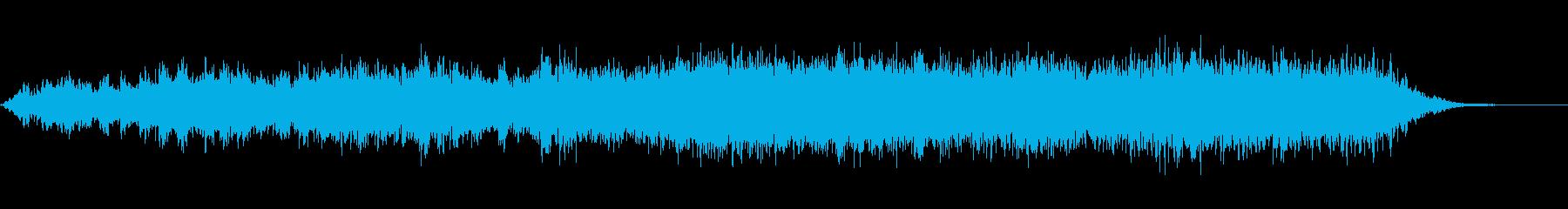 不安にさせる持続音60secの再生済みの波形
