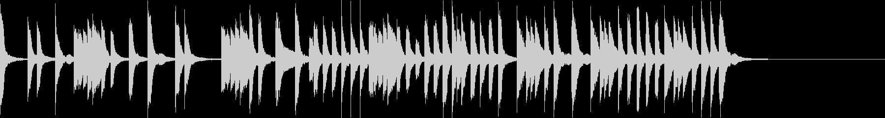 ほのぼのカワイイ教育TV風ピアノ曲の未再生の波形