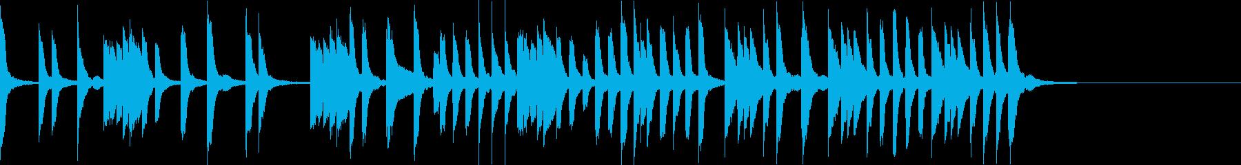 ほのぼのカワイイ教育TV風ピアノ曲の再生済みの波形
