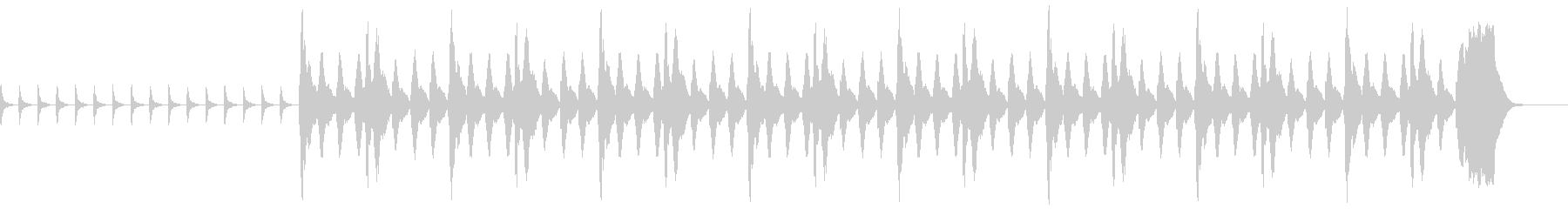 ホラー系の未再生の波形