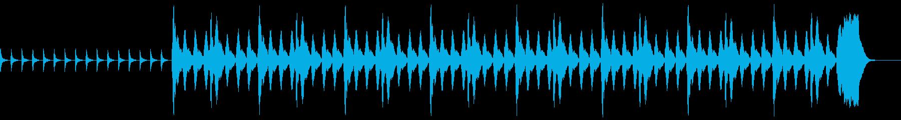 ホラー系の再生済みの波形