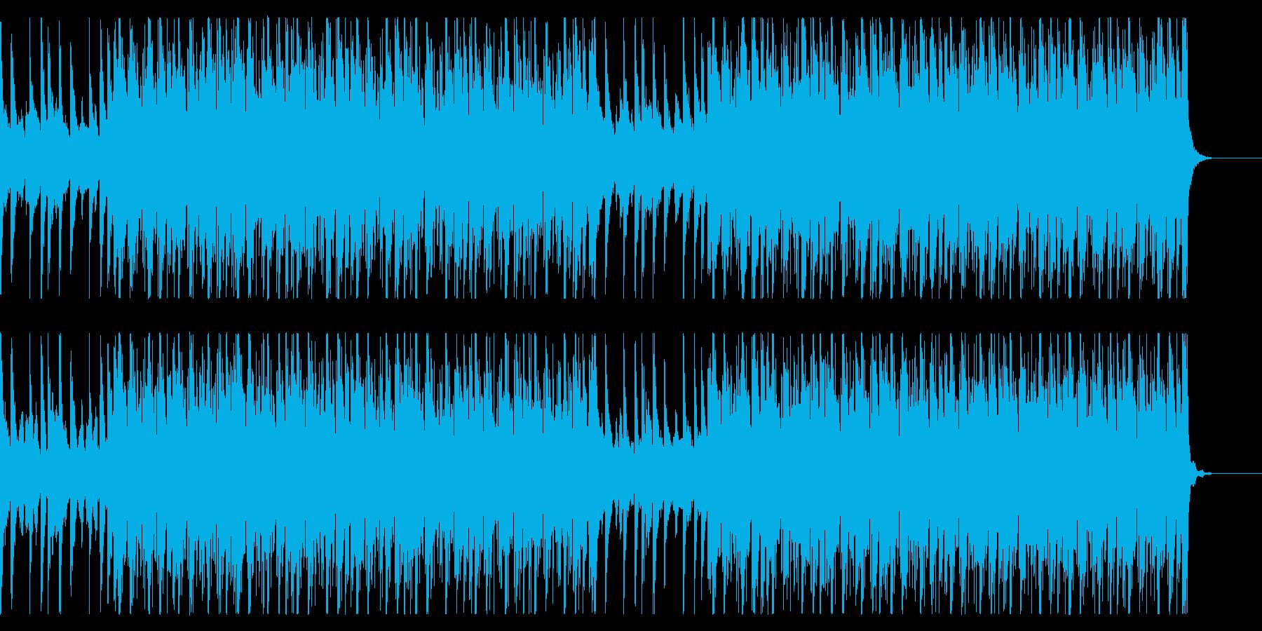 オシャレで疾走感のあるドラムンベースの再生済みの波形