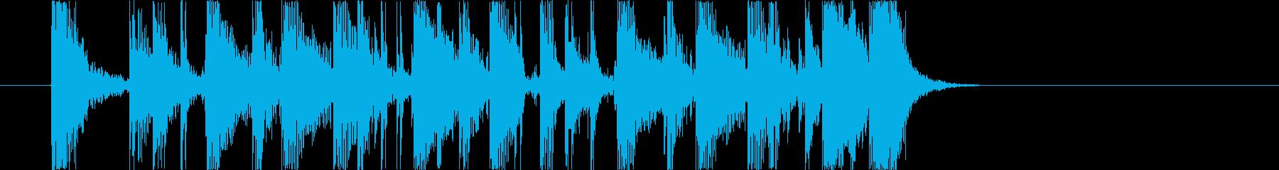 シンプルでクリアなギターカッティング2の再生済みの波形
