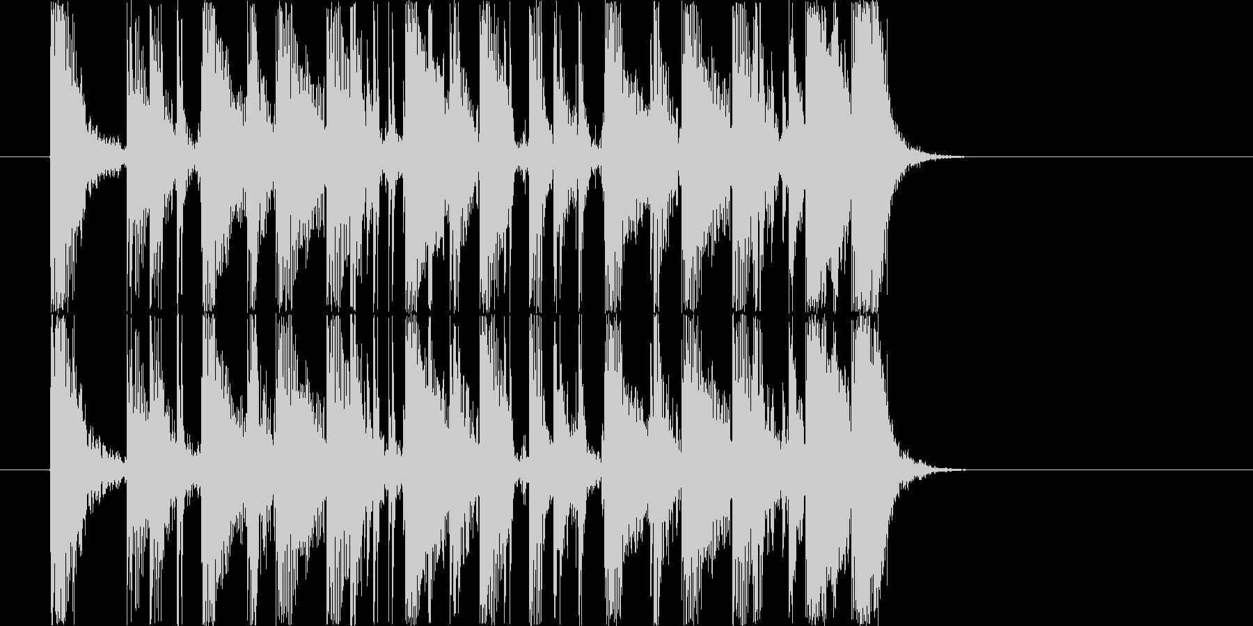 シンプルでクリアなギターカッティング2の未再生の波形