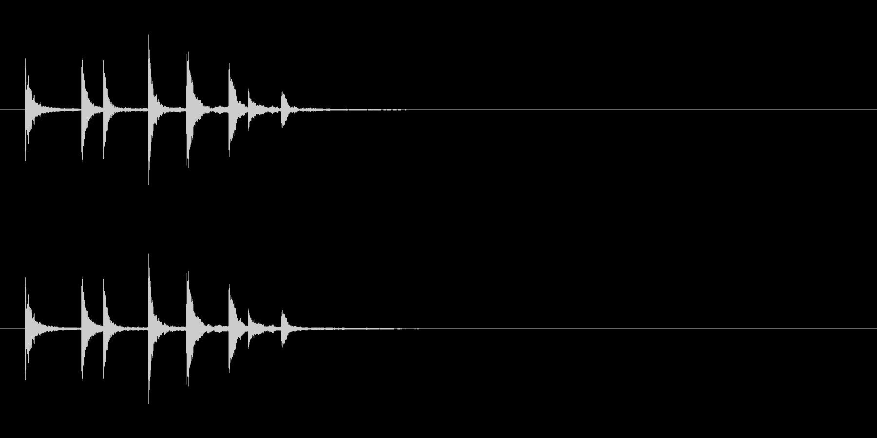物が落ちる音 7の未再生の波形
